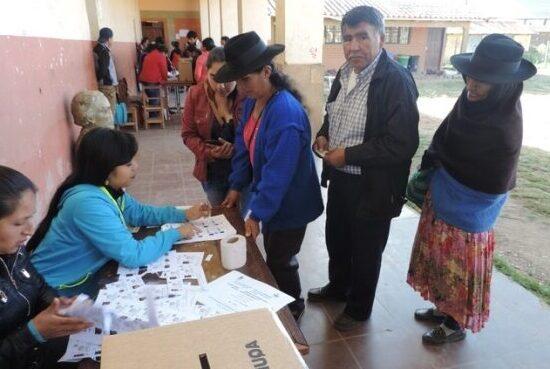 Tendencias electorales vistas desde una comunidad